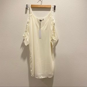 NWT Three Eighty Two Cold Shoulder White Dress